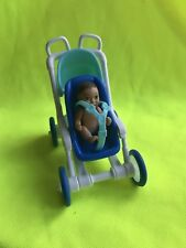 Mattel Happy Family Barbie baby & Stroller 0001