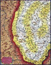 Reproduction carte ancienne - Le Vivarais XVIIè