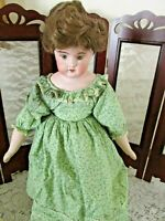 """Antique Heubach (?) 8/0 Bisque/Cloth Doll, Very Pretty Girl, Good Condition, 16"""""""