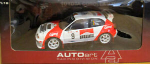 AUTOart 1:18 Scale 1998 Toyota Corolla WRC Rally Portugal Mint Boxed