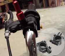 "2 Pcs Black 7/8"" Handle Bar 10MM Mirror Base Block Mount Clamp For Honda Moto"