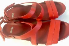 Camper CAMPER WOMEN'S MICRO ANKLE STRAP TWO TONE RED SZ 10.5/11