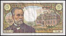 More details for 1967 | france 5 francs 'pasteur' banknote | banknotes | km coins