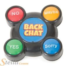 Backchat Talker Button Novelty Yes No Maybe Sorry Answer Back Buzzer