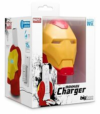 Nintendo Wii & Wii * MARVEL U IRON MAN Wii Remote Light Up Dock Caricabatteria * NUOVO