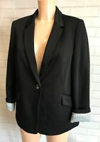 Beautiful Smart Causal Black Blazer Jacket Size 10 to 16