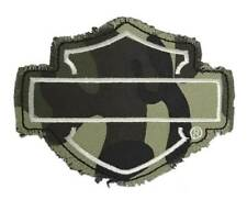 Harley-Davidson Genuine Camo Bar & Shield Frayed Emblem Patch, 4 x 3 inches