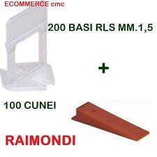 200 BASi RLS MM.1,5 + 100 CUNEI RLS RAIMONDI DISTANZIATORI LIVELLANTI BASE/CUNEO