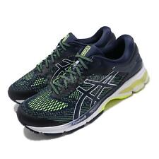 Asics Gel-Kayano 26 Peacoat Navy Yellow Men Running Shoes Sneakers 1011A541-403