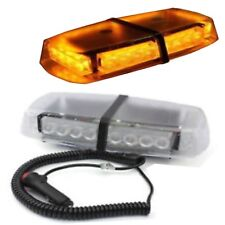 30W BRIGHT AMBER RECOVERY STROBE LED LIGHTS ORANGE MAGNETIC ROOF FLASHING BEACON