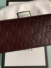 Original Gucci Geldbörse/Portemonnaie/Kartenetui braun Leder