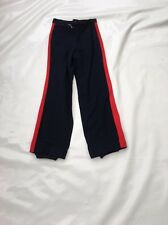 "Vintage 80's Boys Blue Ski Trousers SZ Waist 24"" #264"