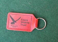 Essex Wildlife Trust Keyring/Keyfob - Leather - UK Animal Charity - Bird
