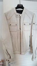 REDSKINS Blouson en cuir homme crème - Edition ROCKTOUR Slim Taille XL 56/58