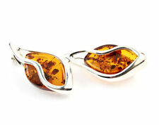 925 Sterling Silver & Baltic Amber Jewellery - GL807 - Designer Brooch