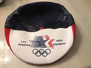Vintage 1984 Los Angeles Olympics Beret Snapback Hat