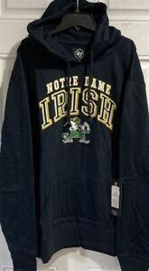 Notre Dame Fighting Irish NCAA '47 Brand Navy Men's Pullover 2XL Hoodie
