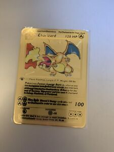 Pokemon - 1999 Base Set 1st Edition Charizard 4/102 Metal Custom Card
