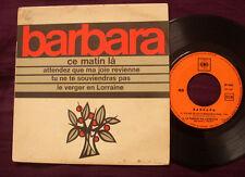 "BARBARA chante Barbara - Ce Matin La EP 7"""