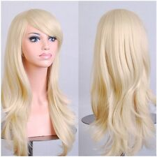 Fahion Full Wig Real Heat Resistant Wavy Hair Wigs Cosplay Wigs Halloween red kl