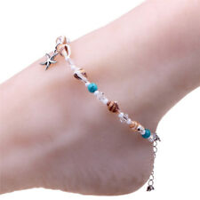 Boho Starfish Conch Beads Shell Anklet Barefoot Sandal Beach Foot JewelryVe