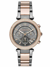 Michael Kors MK6440 Ladies Parker Two Tone Stainless Steel Chronograph Watch