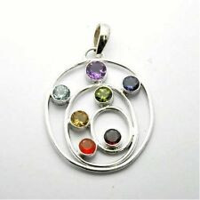 Chakra Round Stone Costume Necklaces & Pendants