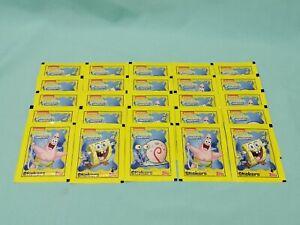 Topps Spongebob Schwammkopf  Sticker  25 Tüten / 125 Sticker und Stickerkarten