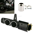 Three-Outlets Aluminum Motorcycle Exhaust Muffler Pipe Kit 38-51mm Clamp Black