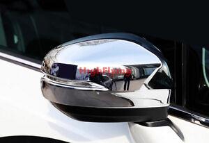 Chrome Side Door Mirror Cover Trim 2pcs For Honda Odyssey 2014 2015 2016