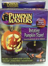 Pumpkin Masters Rotating Stand w/ Super Bright LED Light Plus 3 Patterns Tools