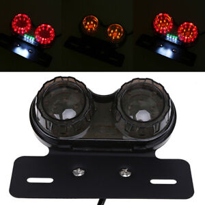 LED Taillight Integrated Turn Signal Brake Metal License Plate Light Fit Harley