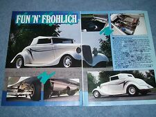 """1933 Ford Cabriolet Vintage Street Rod Article """"Fun 'N' Frohlich"""