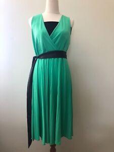 Szabo Size XL Sunray Maternity Nursing Knee Length Empire Sun Dress Midori Green