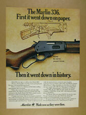 1976 Marlin 336 Deer Rifle vintage print Ad