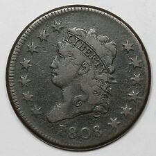 1808 S-278 R-3 Classic Head Large Cent Coin 1c