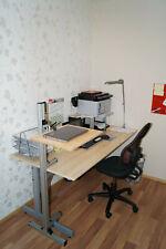 Steharbeitsplatz, Höhenverstelbarer Schreibtisch, Notebook Halterung, Ablage