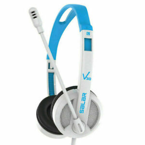 3.5mm Wired Headset with Microphone Adjustable Over-Ear Students Headphones