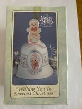 Precious Moments Bell. Wishing You the Sweetest Christmas, 1993 #251372