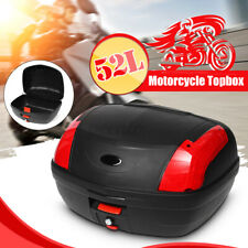 52L Motorcycle Storage Luggage Scooter Topbox Rear Top Tail Box Universal Case