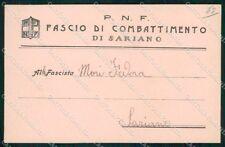 Militari Fascismo Sariano Rovigo PNF cartolina XF6715
