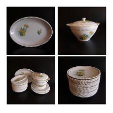 Service céramique porcelaine opaque KG Lunéville Badonviller art nouveau France