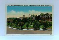 Roanoke Virginia Norfolk & Western Railway Buildings And Hotel Vintage Postcard