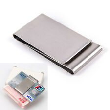Two-Sided Stainless Steel Slim Pocket Money Clip Wallet Card Cash Holder XE