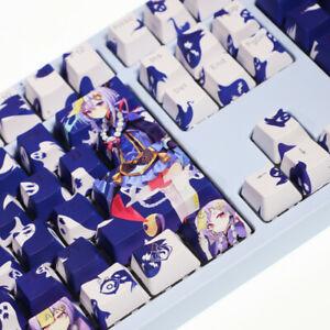 Games Genshin Impact QiQi 108 Keys PBT Keycap Set for Mechanical Keyboard Stock