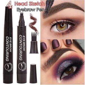 Microblading Tattoo Eyebrow Ink Pen Long Lasting Eye Gray Brown 3D Fork Makeup