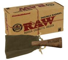 Raw Double Barrel Wooden Cigarette Holder
