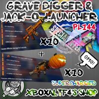 10 x PL144 Grave Diggers + 10 x PL144 Jack-o-Launcher | Fortnite STW XBOX/PS4/PC