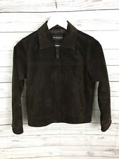 Boys M&S Autograph Suede Jacket - Age 9-10 - Brown - Great Condition