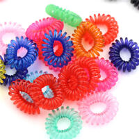 20pcs Girl's Elastic Phone Cord Line Rubber Hair Ties Band Rope Ponytail*OF